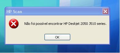 Problema com a HP Deskjet 2050 j510 series scan