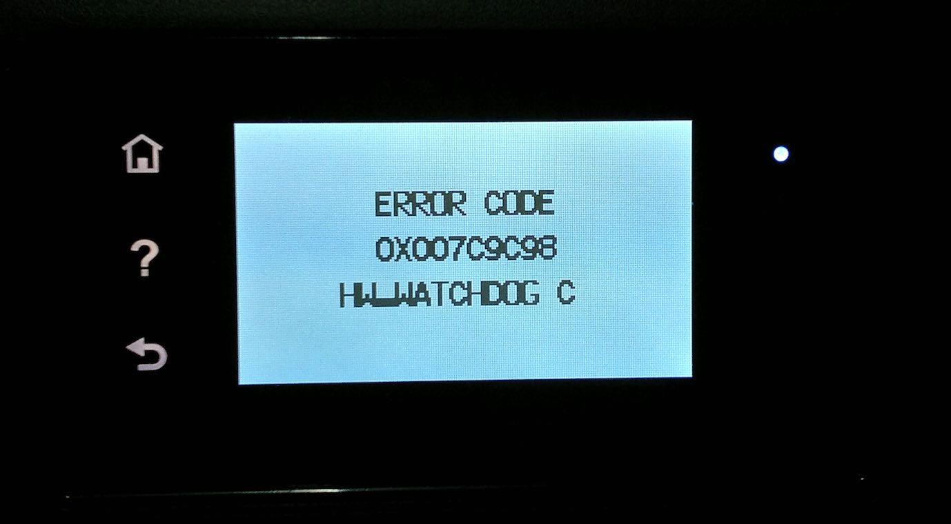 Imagem do erro que interrompeu o processo de escaneamento