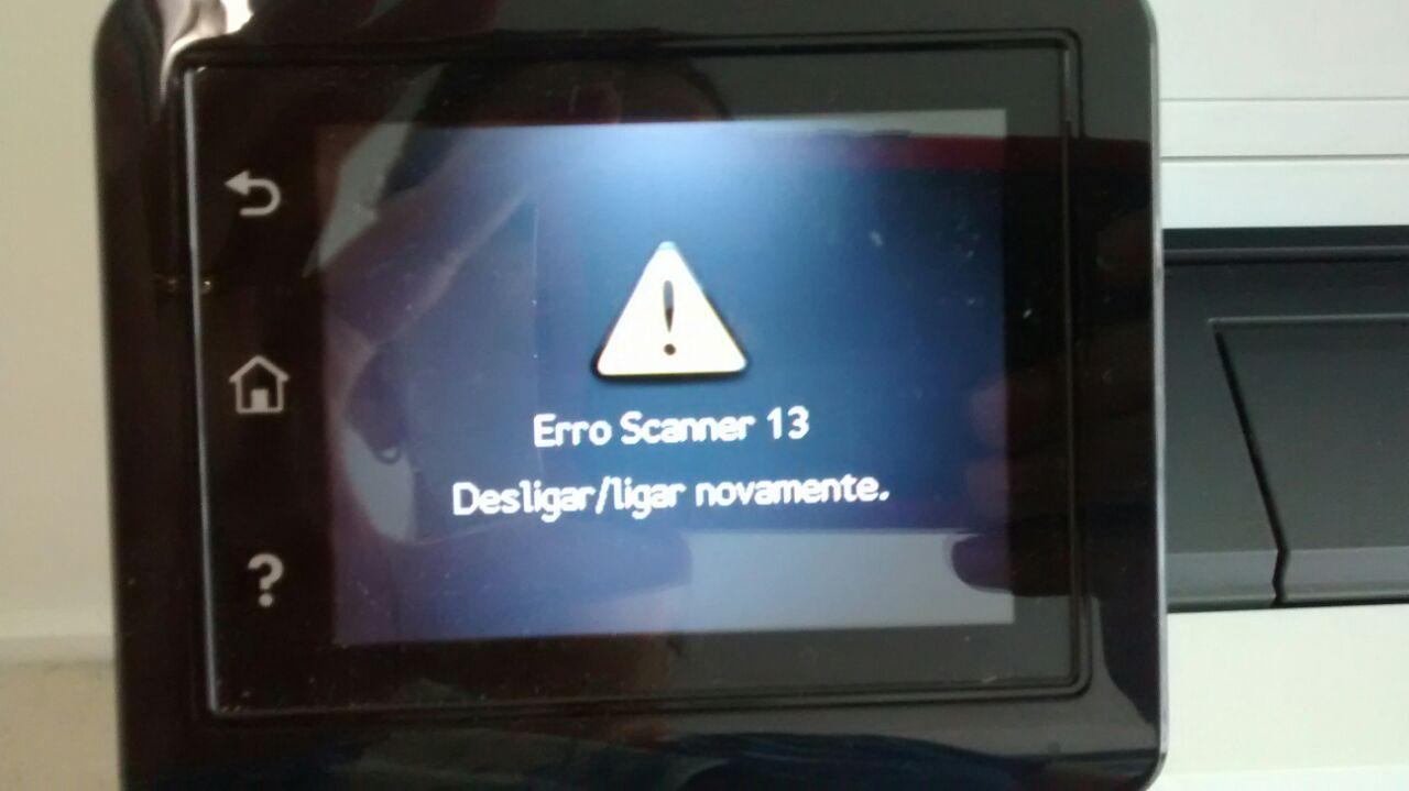 erro scanner 13