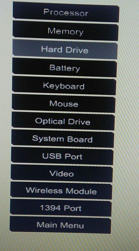 Isso é o teste de componentes (F2)