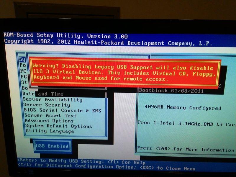 Solucionado: HP ProLiant ML110 G7 BIOS Update - Comunidade