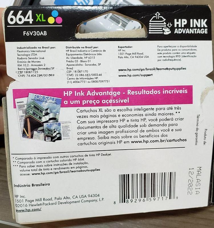 cartucho2 data na embalagem