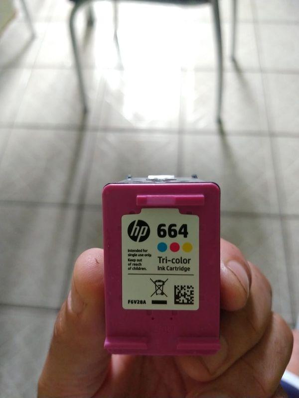 Cartucho HP 664 Colorido - Etiqueta