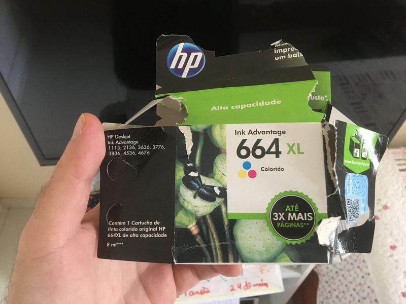 Caixa do cartucho 664 XL colorido