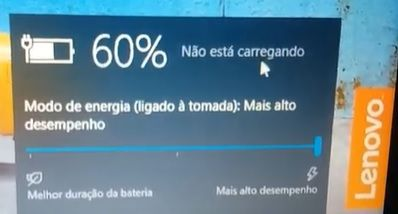 Exemplo do software sendo utilizado no LENOVO