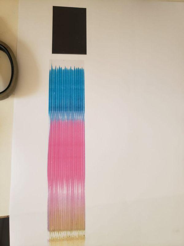 Era para sairem retanglos de cada cor para conferencia da limpeza de pagina.