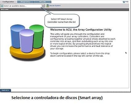 Configuração do RAID usando o Array Configuration